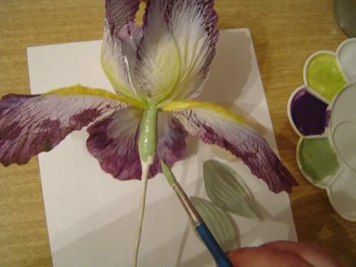 Как сделать цветок ирис